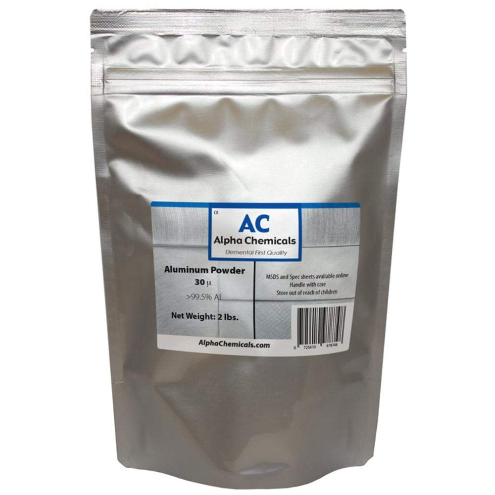 2 Pounds - Aluminum - 30 micron by Alpha Chemicals