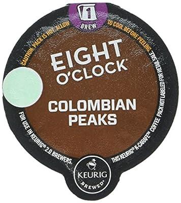 Eight O'Clock Coffee Colombian Peaks Coffee - K Carafe - 8 ct