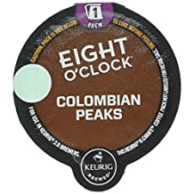 Eight O'Clock Coffee Colombian Peaks Coffee - K Carafe - 8 ct