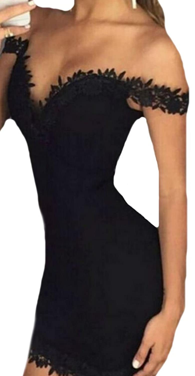 MLG Women's Sexy Slim Fit Summer Bodycon Evening Party Dress