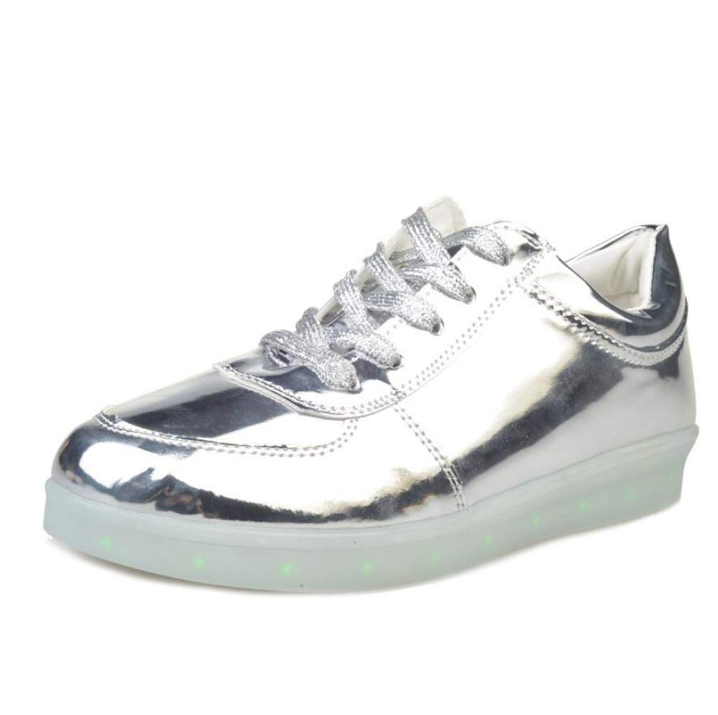 MhC Herren/Damenschuhe Kunstleder LED Schuhe Frühling/Sommer / Herbst Leuchten Schuhe Flache Ferse Gore Silber/Lila / Golden