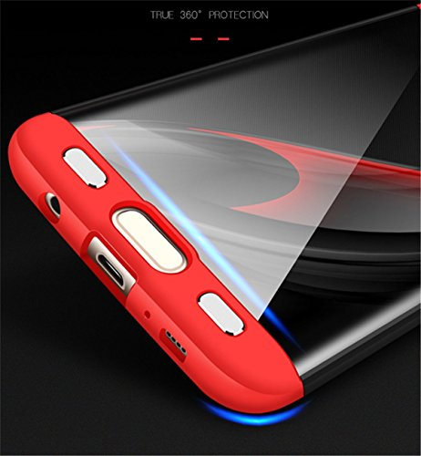 S7 Protection Edge Etui Case Galaxy rouge en Edge Intgrale Choc Mince PC 1 Noir 3 Anti 360 Membrane Verre Ultra Anti Tremp Coque S7 Galaxy Samsung Scratch qFXSABB