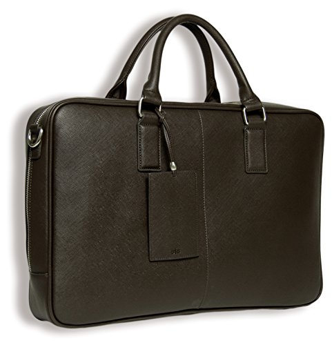 BfB Laptop Messenger Bag For Men - Designer Business Computer Bag Or Attorney Briefcase - Ideal For Work And Travel - CHOCOLATE BROWN by My Best Friend is a Bag