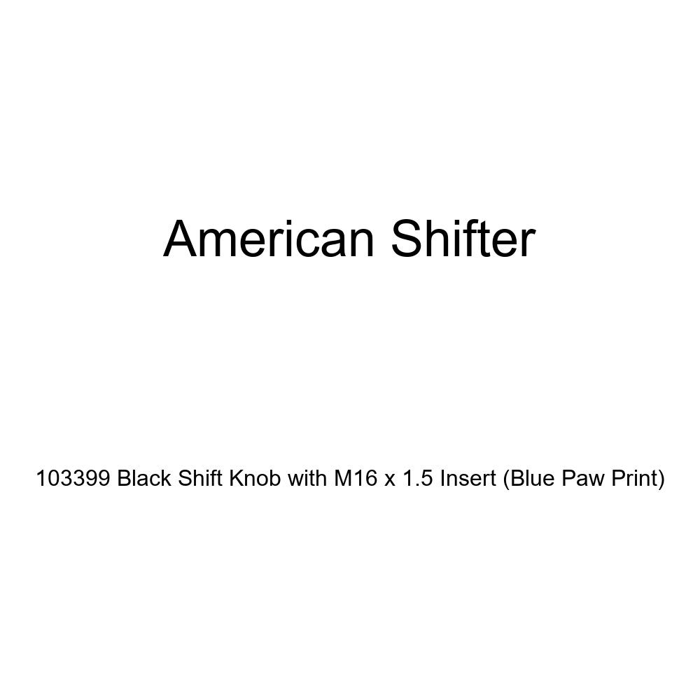 American Shifter 103399 Black Shift Knob with M16 x 1.5 Insert Blue Paw Print