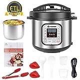 MOOSOO 12-in-1 Electric Pressure Cooker Instant