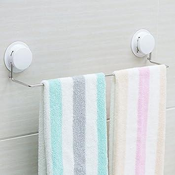 Hlluya La Ventosa toallero baño Toalla de Acero Inoxidable Varilla pequeña Toalla de baño Colgador de