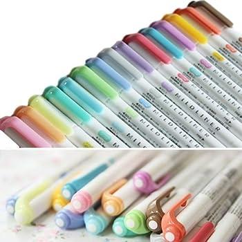 Zebra Mildliner Double-Sided Highlighter 15 Color Set, Fine / Bold, Mild & Fluorescent Color, Deep & Warm Color, Cool & Refined Color,