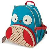 "Toddler Backpack, 12"" Owl School Bag, Multi"