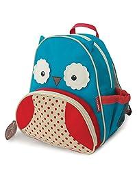 """Skip Hop Toddler Backpack, 12"""" Owl School Bag, Multi"""