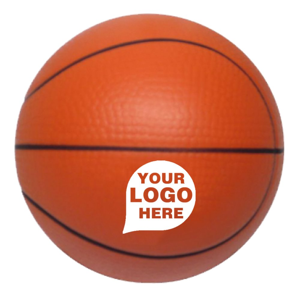 Stress Ball Basketball - 100 Quantity - $2.20 Each - PROMOTIONAL PRODUCT / BULK / BRANDED with YOUR LOGO / CUSTOMIZED