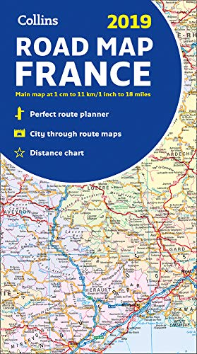 2019 Collins Map of France...