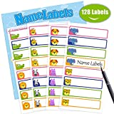 Itari Baby Bottle Labels, Name Label for Kid, Self-Laminating Labels for Daycare, Waterproof, Dishwasher Safe, Adorable Design,128Labels