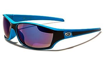 X-Loop Lunettes de Soleil - Sport - Cyclisme - Ski - Conduite - Moto - Plage / Mod. 5340 Blanc Noir Argent Miroir NZg4YK8eb