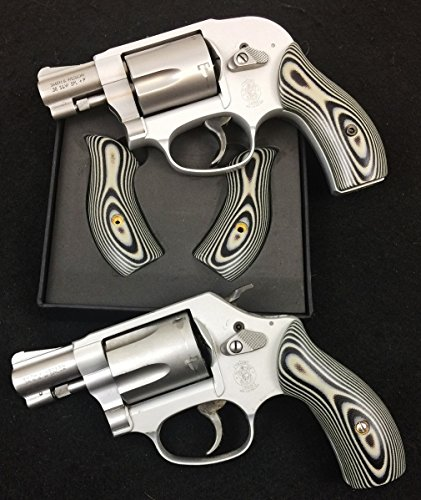 - Smith & Wesson Unique Black and Grey Low Profile J Frame Grips Round Butt
