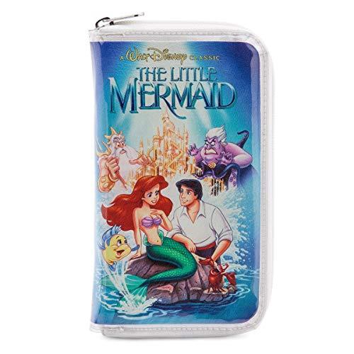 Disney Ariel The Little Mermaid VHS Zipper Wallet Clutch Purse