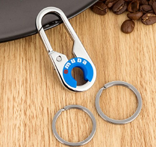 Price comparison product image 2 Pack Key Chain with 2 Extra Detachable Key Rings,OMUDA Heavy Duty Attachable Car Key Holder for Men and Women