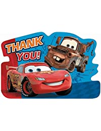 Disney's Cars 2 Die Cut Thank You Cards 8 Pack BOBEBE Online Baby Store From New York to Miami and Los Angeles
