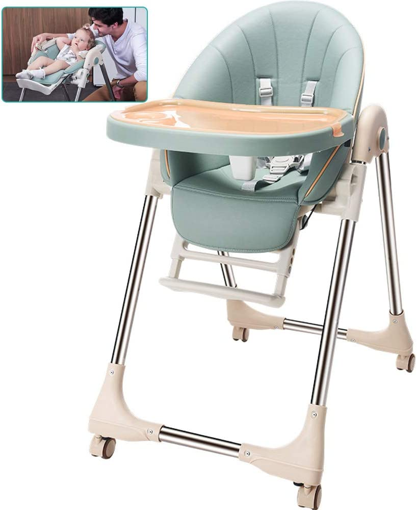WSXG Baby High Chair Protects babys spine development High Chair Multiple gears Adjust High Chair Baby dining chair Dining Chair with Adjustable Tray