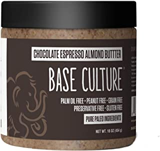 product image for Base Culture Almond Butter, Chocolate Espresso | All Natural 100% Paleo Certified, Gluten Free, Grain Free, Non GMO, Dairy Free, Soy Free, Keto Friendly | 16oz, 1 Count