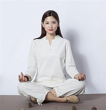 peiwen Práctica de Yoga de señoras Traje/algodón y Lino / 2 ...