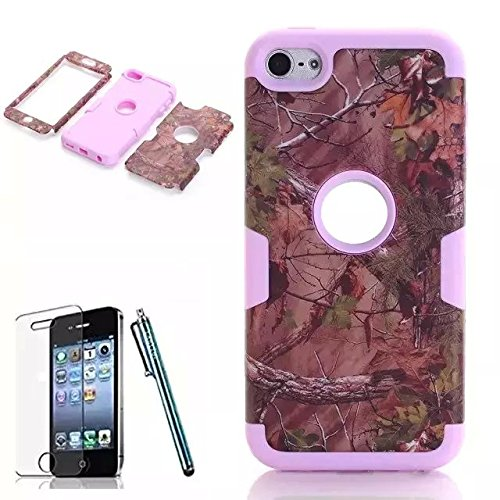 iPhone 6 Case, Lantier(TM) Luxury 3 in 1 Cherry Blossoms Pattern Hybrid Hard Soft Combo Bumper Back Case Cover Protector Fit For iPhone 6 4.7 inch Cover Screen Protector+Stylus Pen/Pink