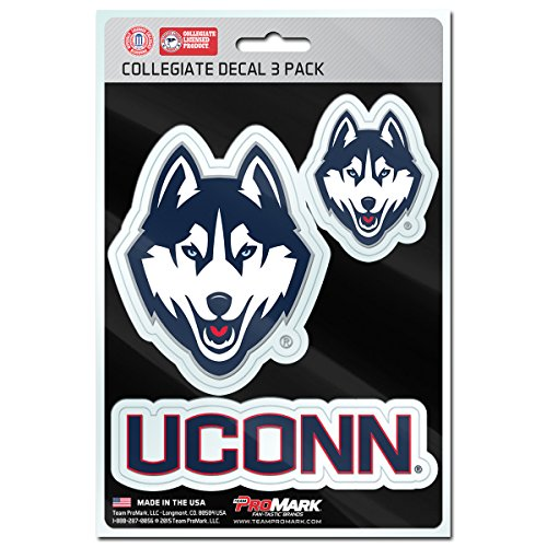 kies Team Decal, 3-Pack (Ncaa Connecticut Uconn Huskies)