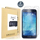 [2 pack] Samsung Galaxy S5 Screen Protector, EasyULT Premium Tempered Glass Screen Protector,with Double Defense Technology with [2.5D Round Edge] [9H Hardness] [Crystal Clear] [Scratch Resist] [No-Bubble]