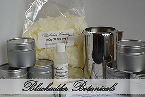 Beginners Candle Making Kit 100% Soy (Tins) Fruity and Fresh Fragrances Blackadder Candles