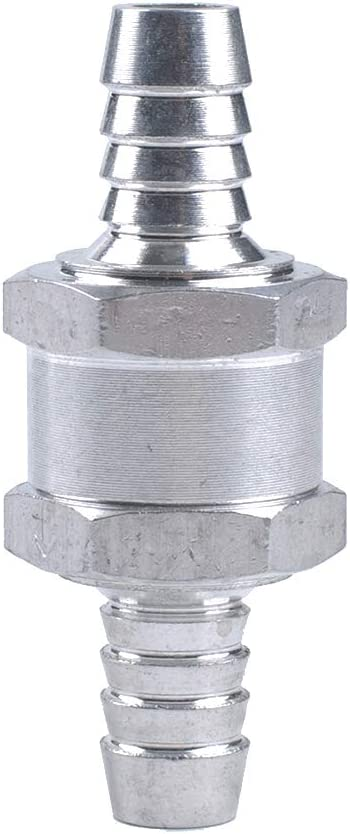 Yves 3PCS//Set 12MM 1//2 Aluum Alloy Fuel valve 12MM Non Return Check Valve One Way Petrol Diesel w// 16mm Spring Clip