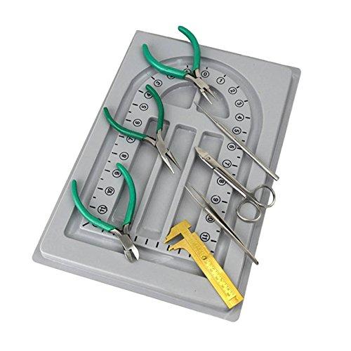 8 Piece Beading Tool Kit w/ Plastic Bead Board Jewelry Making Tool Kit