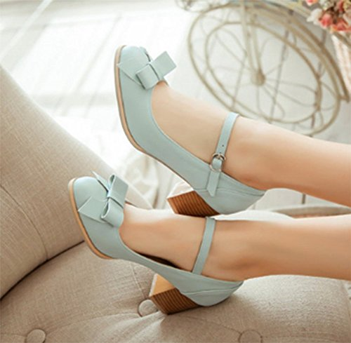 Chfso Donna Elegante Punta Tonda Cinturino Alla Caviglia Fibbia Cinturino Alla Caviglia Con Cinturino Alla Caviglia