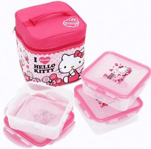 Lock & and Lock Hello Kitty Children Kids Lunch Box Bento...