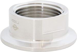 "Sanitary Tri clamp 50.5mm to NPT Female Thread Adaptor SS304 Tri clamp Adaptor Pipe Fitting (Thread Size: 1"" NPT)"