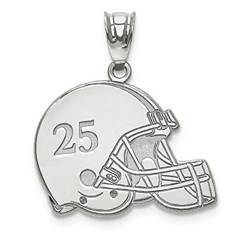 silver football helmet - 6