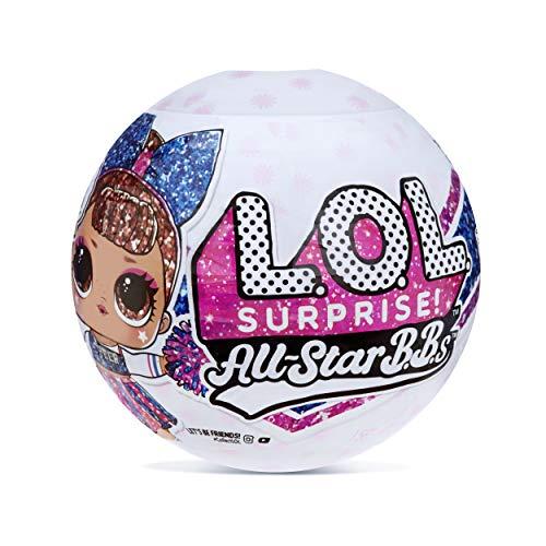LOL Surprise All,Star BBs Cheer Team Muñecas Brillantes Coleccionables , Con 8 sorpresas, moda y accesorios , Sports…