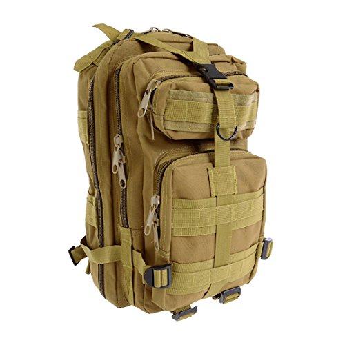 TOOGOO(R) Maenner Outdoor Rucksack militaerischer taktischer Rucksack Camping Wandern Jagd Trekking Rucksack (Schlamm Farbe)