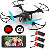 Force1 Drones with Camera - U45WF Video Drones with Camera for Adults and Kids, FPV Drone with 720p HD Quadcopter Camera and VR Capable with WiFi App