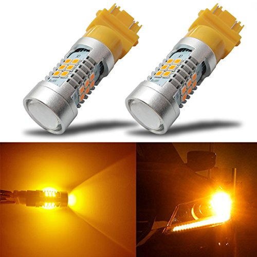 Nitro Buggy Tuning (iBrightstar Newest Extremely Bright 3156 3157 3057 4157 LED Bulbs with Projector replacement for Turn Signal Lights,Amber Yellow)