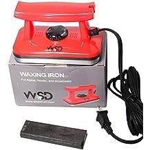 WSD Ski and Snowboard Wax Iron Ski Tune Up Waxing Iron, Red