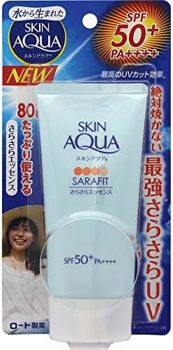 Rohto SKIN AQUA SARAFIT Essence UV (SPF50+ PA++++) 80g --From JAPAN--