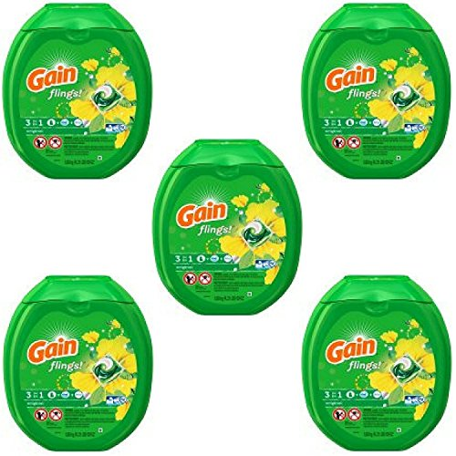 Gain flings! Laundry Detergent Pacs, Original, 81 count - Pack of 5 by GAIN