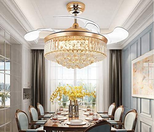 MINGSHOP 42 inch Crystal Ceiling Fan Light