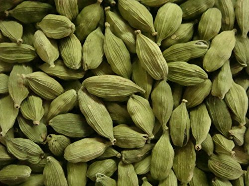 Kerala Naturals Green Cardamon Pods Whole Cardamom Indian Arabic Food Spices 16Oz/ 1 Lb