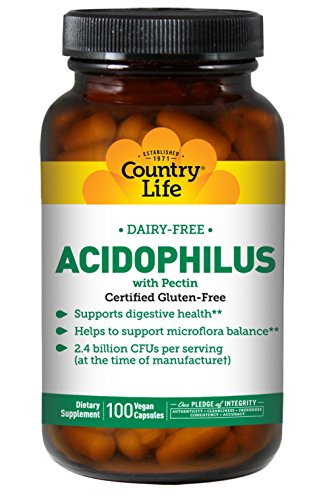Country Life - Natural Dairy-Free Acidophilus with Pectin - 100 Vegan (Country Life Natural Vitamin)