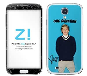 Zing Revolution One Direction Premium Vinyl Adhesive Skin for Samsung Galaxy S4 - Retail Packaging - Niall Blue Bright