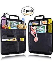 """Qhui Rückenlehnenschutz Auto 2 Stück 9,7"""" iPad Organizer und Multi Taschen Wasserdicht Autositz Organizer für Kinder, Baby, Reisen oder Lagerung, Kick-Matten-Schutz für Autositz"""