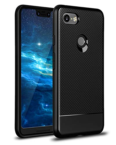 Google Pixel 3 Case - Xawy Pixel 3 Case, Sucnakp TPU Shock Absorption Technology Raised Bezels Protective Case Cover for Google Pixel 3 Case (Black)