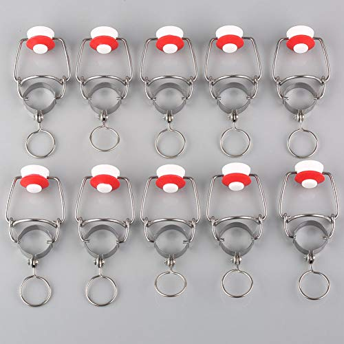 FidgetGear 10pcs Ez Cap Flip Top Stopper Root Homebrew Beer Bottles Replacement Swing Cap from FidgetGear