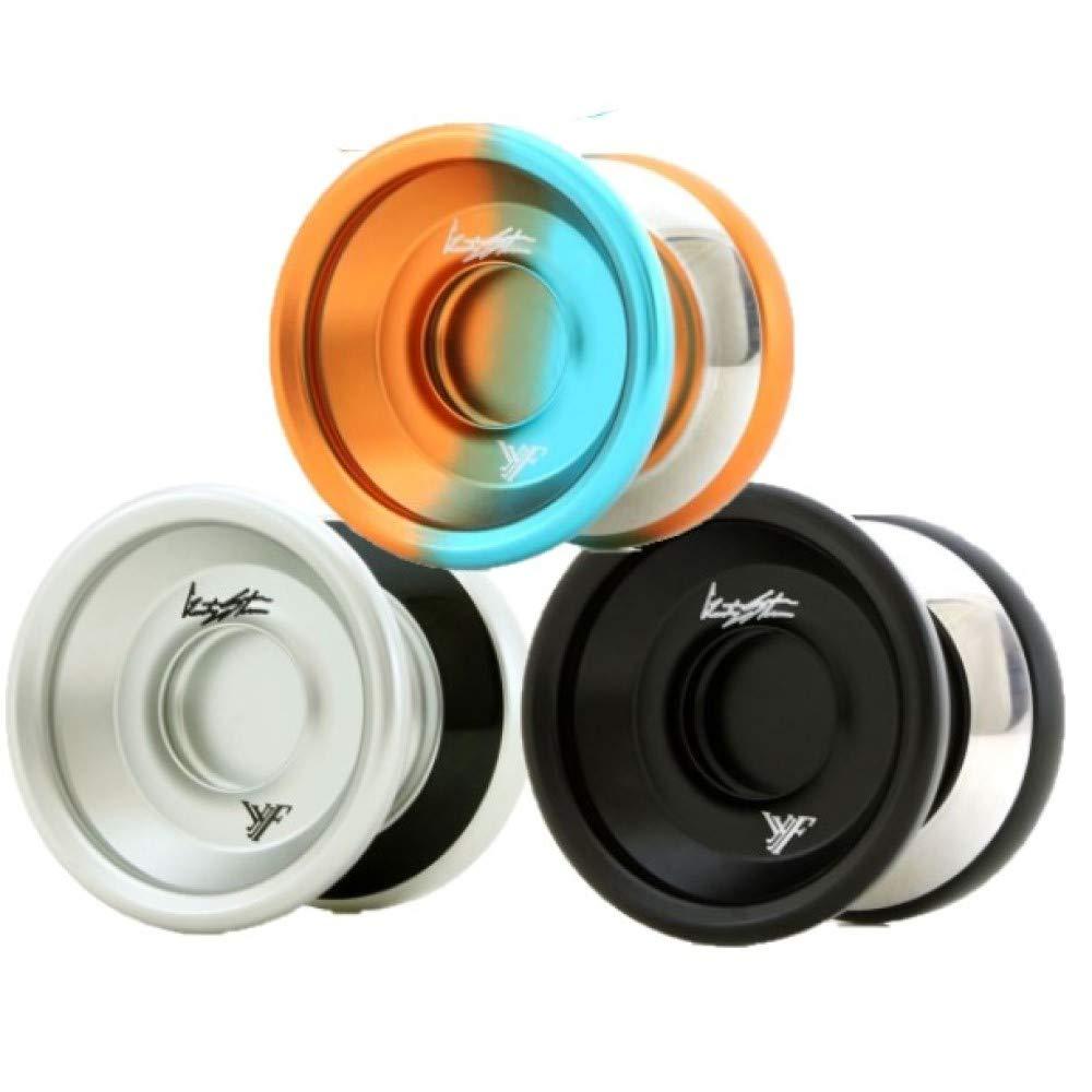 YoYoFactory Wide Angle Shutter Yo-Yo - Bi-Metal Design Look and Style - Gentry Stein (Kacper Edition Orange Aqua Fade) by YoYoFactory