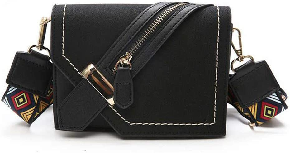 Jeenwicuoy Fashion Women Messenger Bags Wide Strap Crossbody Female Flap Small Shoulder Bag